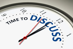 Clock with time to discuss. An image of a nice clock with time to discuss vector illustration