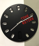 Clock with time to retire. Concept royalty free stock photography