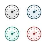 Clock time vector illustration