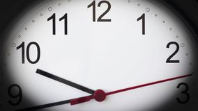 Clock timelapse HD footage. Quarter to ten.