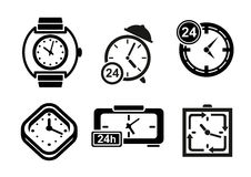 Clock and timer icons set Royalty Free Stock Image