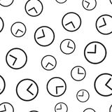 Clock timer seamless pattern background. Business flat vector il. Lustration. Clock watch sign symbol pattern Stock Image