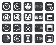 Clock, timers, calendar icons Royalty Free Stock Photos