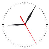 The clock and timestamp without numbers Royalty Free Stock Images