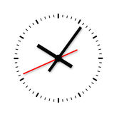 Clock and timestamp without numbers. Royalty Free Stock Images
