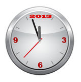 Clock to 2013,  New Year, vector. Clock to 2013,  New Year, eps 10 vector Royalty Free Stock Image