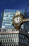 Clock to the City of London Royalty Free Stock Photo