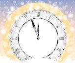 Clock on to snow Stock Photos
