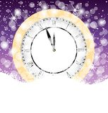 Clock on to snow Royalty Free Stock Image