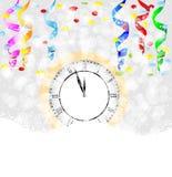 Clock on to snow Stock Image