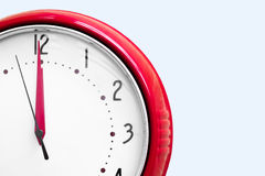 Red alarm clock. On white Royalty Free Stock Photography