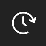 Clock tome vector icon. Timer 24 hours sign illustration Stock Photos
