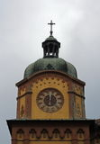 Clock on the top of  the oldest high school in Serbia Royalty Free Stock Photos
