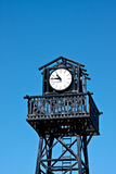 Clock On Top Of A Tower. Royalty Free Stock Images
