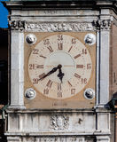 The clock on the Torre dell'Orologio Stock Images