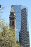 Clock Tower. Old City Hall - Toronto, Ontario, Canada stock photos