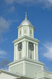 Clock tower. Old clock tower in Natchez Mississippi stock photos