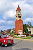 Clock tower. The clock tower at town of Niagara-on-the-lake royalty free stock photo