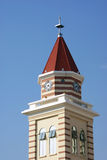 The Clock Tower. ??In the blue sky background Royalty Free Stock Images