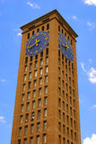 Clock Tower. The clock tower of the basilica of the National Shrine of Our Lady of Aparecida, Brazil royalty free stock photo