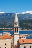 Clock tower. In old city of Budva, Montenegro Royalty Free Stock Photos
