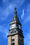 Clock tower. Of Hamburg mail railway station Royalty Free Stock Photo
