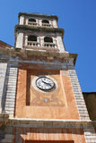 Clock Tower. A clock tower that could be seen over all roofs of an Italian village Royalty Free Stock Photos