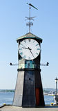 Clock tower. Watch tower in Oslo fjord harbor Royalty Free Stock Photography