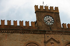 Clock Tower. City hall of Fidenza - Italy Royalty Free Stock Image