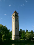 Clock Tower. At Rivrfront Park stock photo