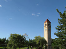 Clock Tower. Riverfront Park Clock Tower and Pavilion Stock Photography