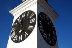 Clock tower. In Novi Sad, Serbia stock images