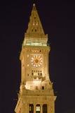 Clock Tower. Boston Custom Clock Tower at night Stock Images