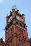 Clock tower. Looking up at clock tower,Liverpool university Stock Photos
