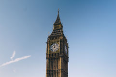 Clock Tower Against Blue Sky Royalty Free Stock Image