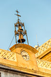Clock tower against blue sky Royalty Free Stock Photos