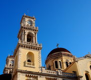 Clock Tower At Agios Minas Church In Heraklion Greece Royalty Free Stock Image