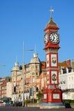 Clock tower along promenade, Weymouth. Royalty Free Stock Photography