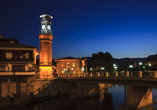 Clock tower in Amasya, Turkey Royalty Free Stock Image