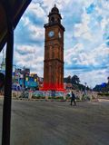 The clock tower royalty free stock photo