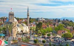 Clock Tower in Antalya, Turkey Royalty Free Stock Image