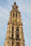 Clock tower of Antwerpen, Belgium Stock Photo