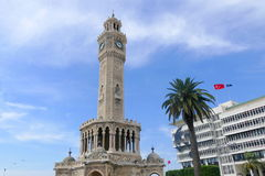 Clock tower in Arabic style in the center of Izmir. It is one of. The most famous and distinctive points of the city Royalty Free Stock Photos