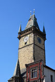 Clock tower, architecture, Prague sights Royalty Free Stock Image
