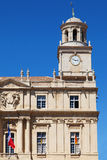 Clock tower of Arles Town Hall Royalty Free Stock Photo
