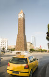 Clock Tower ave Habib Bourguiba Tunis Tunisia Afr Royalty Free Stock Photos