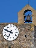Clock tower in Bagnols-sur-Cèze, France. Clock tower in Bagnols-sur-Cèze,  Languedoc-Roussillon, France Stock Images
