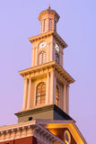 Clock tower in Baltimore downtown in the early winter morning. A clear morning sky over the Sports museum clock tower in Baltimore Stock Photography