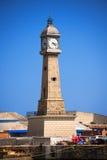 Clock Tower - Barcelona Spain Stock Image