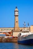 Clock Tower - Barcelona Spain Stock Photography